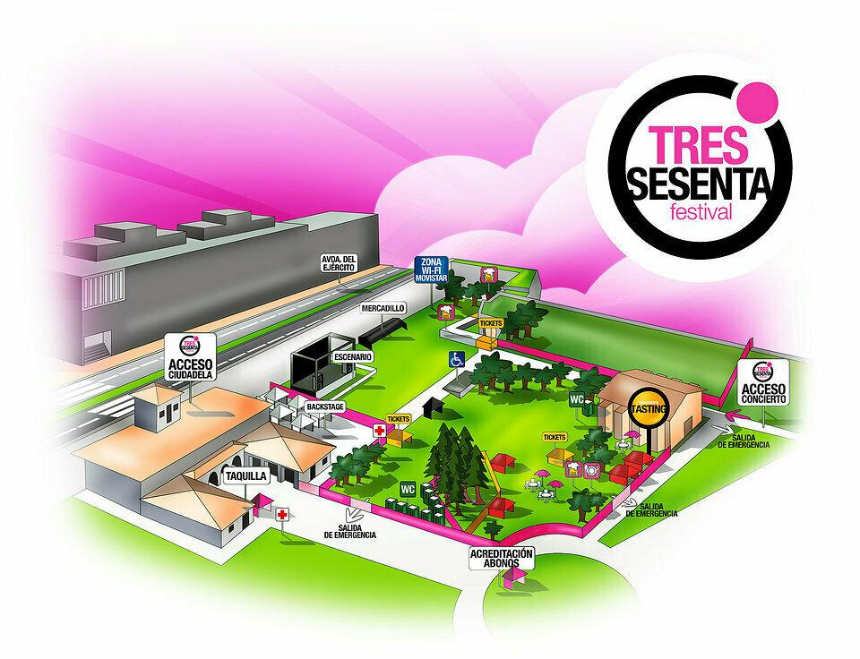 tres-sesenta-festival-pamplona-plan-recinto-ciudadela